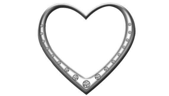 Herz mit Diamanten