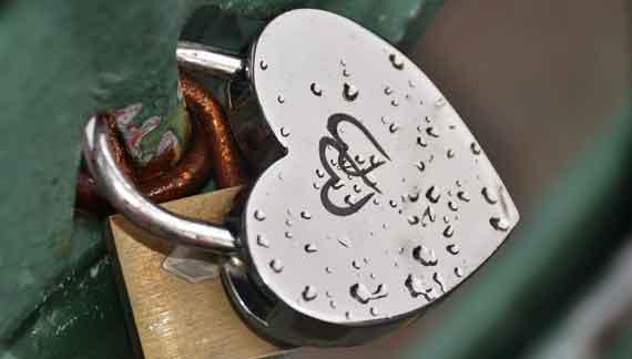 Herzschloss aus Eisen