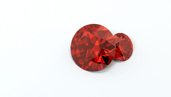 Herz mit Rubinen