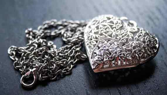 Silberkette mit Herz