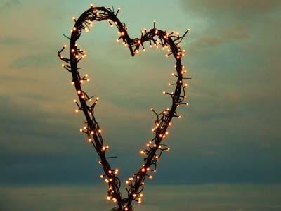 Herz mit Lichterkette