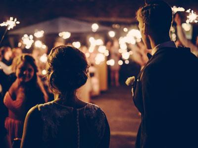 Wunderkerzen zur Hochzeit