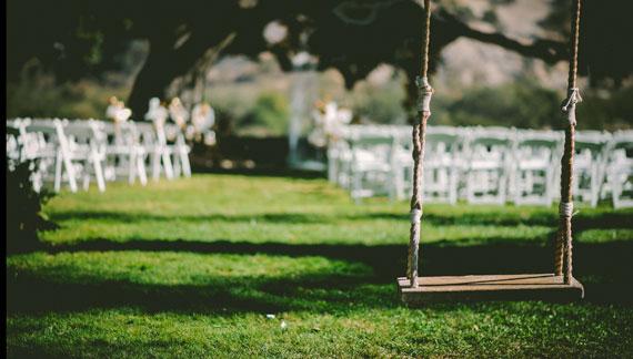 Schaukel bei Hochzeit