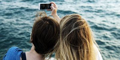 Selfie am Strand